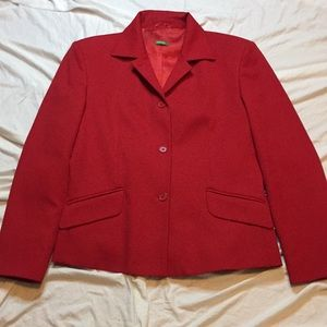 United Colors Of Benetton Red Three Button Blazer